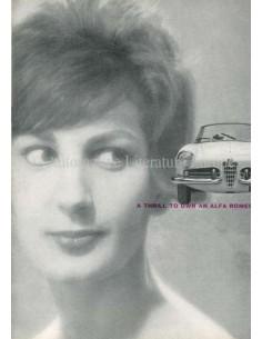 1960 ALFA ROMEO GIULIETTA SPIDER BROCHURE ENGLISH