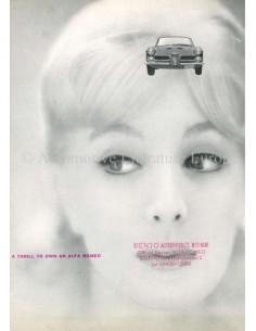 1960 ALFA ROMEO 2000 SPIDER BROCHURE ENGLISH