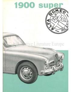 1955 ALFA ROMEO 1900 SUPER BROCHURE ITALIAN