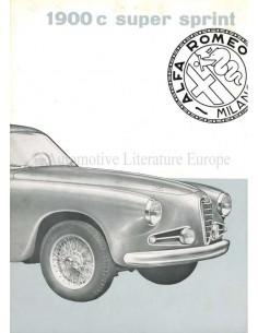 1955 ALFA ROMEO 1900C SUPER SPRINT BROCHURE ITALIAN