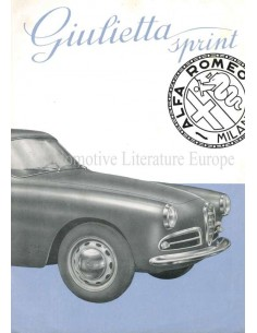 1954 ALFA ROMEO GIULIETTA SPRINT PROSPEKT ITALIENISCH