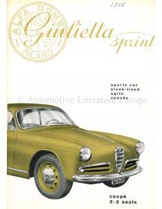 1955 ALFA ROMEO GIULIETTA SPRINT PROSPEKT ENGLISCH