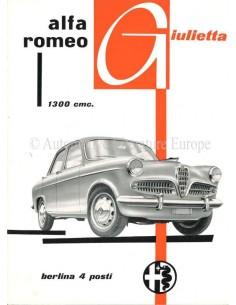 1955 ALFA ROMEO GIULIETTA BERLINA BROCHURE ITALIAN