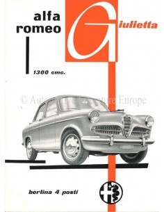 1955 ALFA ROMEO GIULIETTA BERLINA PROSPEKT ITALIENISCH