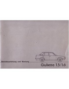 1977 ALFA ROMEO GIULIETTA OWNERS MANUAL GERMAN