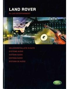 2004 LAND ROVER AUDIOSYSTEM BETRIEBSANLEITUNG NIEDERLÄNDISCH
