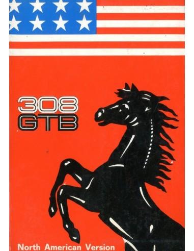 1976 FERRARI 308 GTB INSTRUCTIEBOEKJE USA 127/76