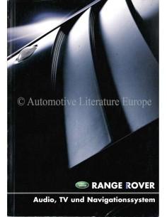 2002 RANGE ROVER AUDIO, TV & NAVIGATIONSSYSTEM BETRIEBSANLEITUNG DEUTSCH