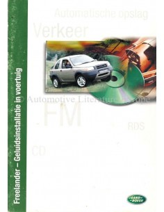 1999 LAND ROVER FREELANDER AUDIO SYSTEM OWNERS MANUAL DUTCH