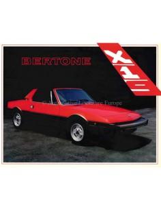 1984 BERTONE X1/9 PROSPEKT