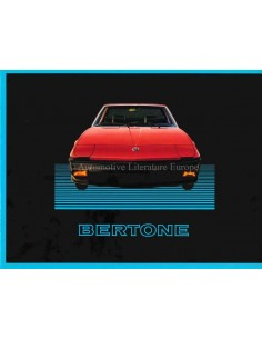 1985 BERTONE X1/9 BROCHURE ENGLISH