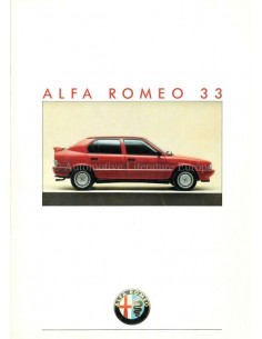 1986 ALFA ROMEO 33 BROCHURE DUTCH
