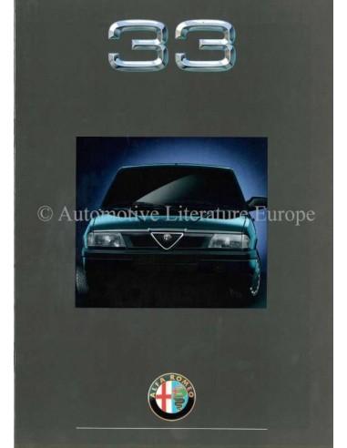 1990 ALFA ROMEO 33 BROCHURE NEDERLANDS