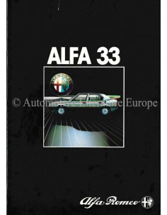 1983 ALFA ROMEO 33 BROCHURE NEDERLANDS