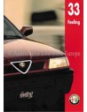 1994 ALFA ROMEO 33 FEELING BROCHURE NEDERLANDS