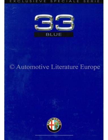 1989 Alfa Romeo 33 Blue Brochure Nederlands