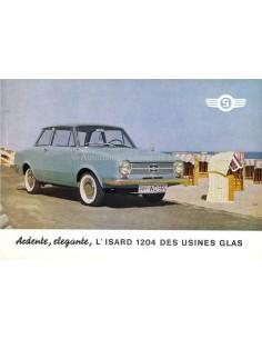 1964 GLAS ISARD 1204 BROCHURE FRANS