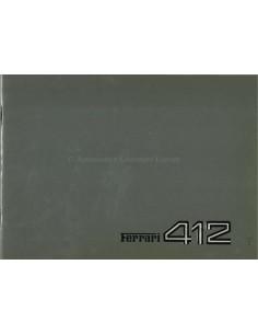 1985 FERRARI 412 PRESSEMAPPE FRANZÖSISCH 353/85