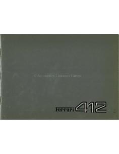 1985 FERRARI 412 PRESSKIT GERMAN 353/85