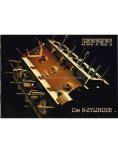 1985 FERRARI THE EIGHT CYLINDER CARS PRESSKIT GERMAN 370/85