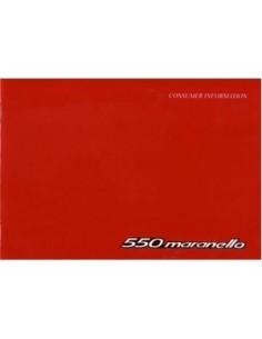 1997 FERRARI 550 MARANELLO KUNDE INFORMATION BETRIEBSANLEITUNG