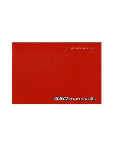 1998 FERRARI 550 MARANELLO KLANT INFORMATIE INSTRUCTIEBOEK