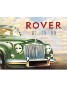 1955 ROVER 60 / 75 / 90 PROSPEKT FRANZÖSISCH