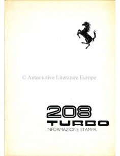 1982 FERRARI 208 TURBO PERSMAP ITALIAANS 236/82