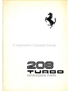 1982 FERRARI 208 TURBO PRESSEMAPPE ITALIENISCH 236/82
