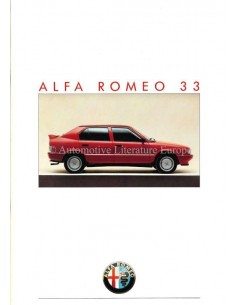 1986 Alfa Romeo 33 Brochure Nederlands