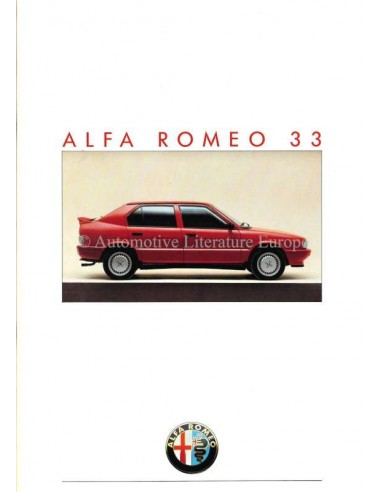1987 Alfa Romeo 33 Brochure Duits