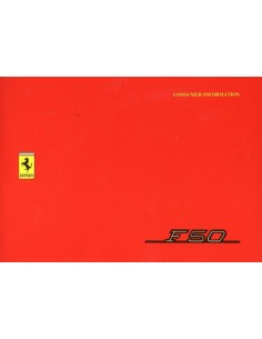 1995 FERRARI F50 CONSUMER INFORMATION OWNERS MANUAL 996/95