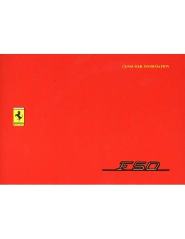 1995 FERRARI F50 KLANT INFORMATIE INSTRUCTIEBOEK 996/95