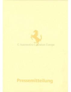 1984 FERRARI MONDIAL CABRIOLET PRESSKIT GERMAN 296/84
