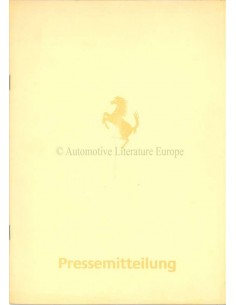 1984 FERRARI MONDIAL PERSMAP DUITS 296/84