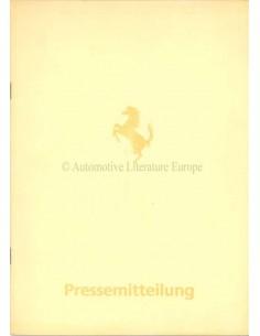 1984 FERRARI MONDIAL PRESSEMAPPE DEUTSCH 296/84