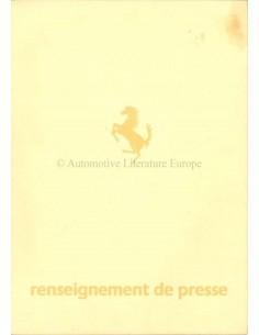 1984 FERRARI MONDIAL BROCHURE PERSMAP FRANS 296/84