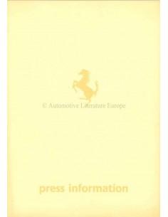1984 FERRARI MONDIAL PRESSEMAPPE ENGLISCH 296/84