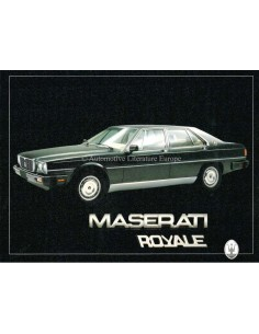 1986 MASERATI ROYALE PORTFOLIO BROCHURE ITALIAN / ENGLISH