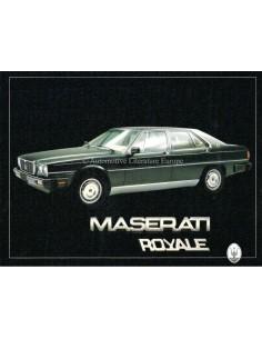 1986 MASERATI ROYALE PORTFOLIO PROSPEKT ITALIENISCH / ENGLISCH