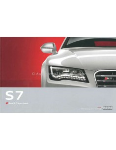 2011 AUDI S7 BROCHURE DUTCH