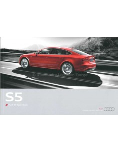 2009 AUDI S5 SPORTBACK BROCHURE DUTCH