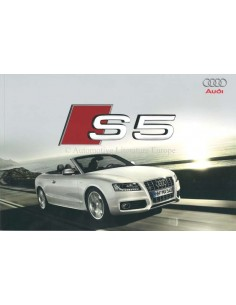 2009 AUDI S5 BROCHURE DUTCH
