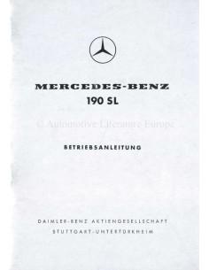 1960 MERCEDES BENZ 190 SL INSTRUCTIEBOEKJE DUITS