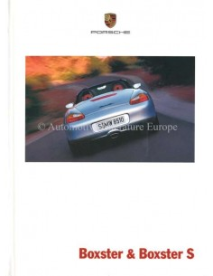 2001 PORSCHE BOXSTER S HARDCOVER BROCHURE DUTCH