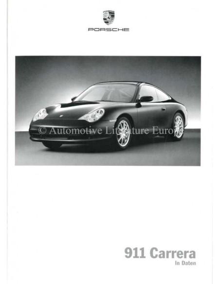 2002 PORSCHE 911 CARRERA & TARGA HARDCOVER BROCHURE DUITS