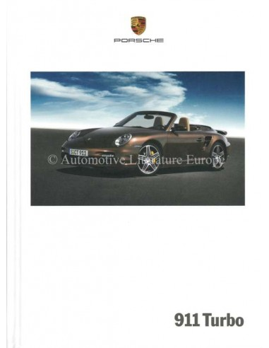 2008 PORSCHE 911 TURBO HARDBACK BROCHURE ENGLISH