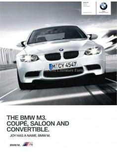 2010 BMW M3 COUPE / LIMOUSINE / CABRIOLET PROSPEKT ENGLISCH