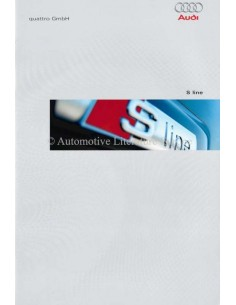 2003 AUDI S LINE BROCHURE GERMAN