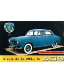 1955 PEUGEOT 403 BROCHURE FRENCH
